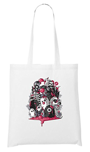 Horrorfilm Handtaschen (Monster Party Bag White Certified Freak)
