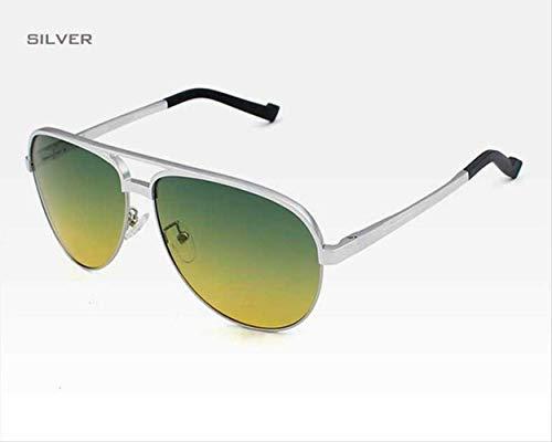 LKVNHP Tag/Nacht Dual-Purpose Vision Männlich Brille Männer Sonnenbrille Legierung Rahmen Polarisierte Verlaufslinse Brillen ZubehörSplitter Vision-splitter