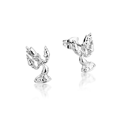 Disney-Couture-Beauty-the-Beast-White-Gold-Plated-Lumiere-Candle-Stud-Earrings