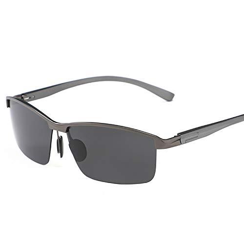 Aluminium-Magnesium polarisierte Sonnenbrille mit halbem Rahmen und Sonnenbrillengewehr schwarz