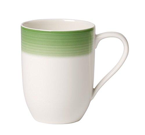 Apple-teller-set (Villeroy & Boch Colourful Life Green Apple Kaffeebecher, 370 ml, Höhe: 10,2 cm, Premium Porzellan, Grün)