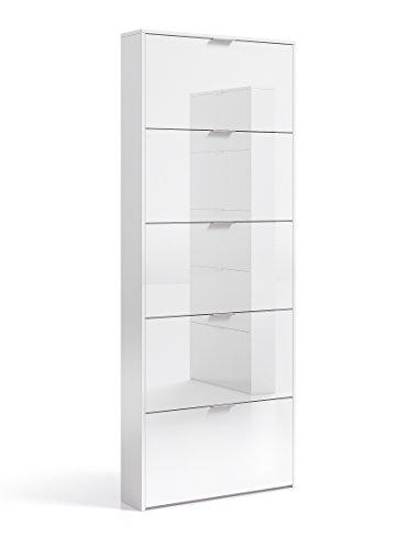 habitdesign-007815bo-zapatero-con-5-puertas-capacidad-15-pares-aprox-color-blanco-brillo-medidas-70-