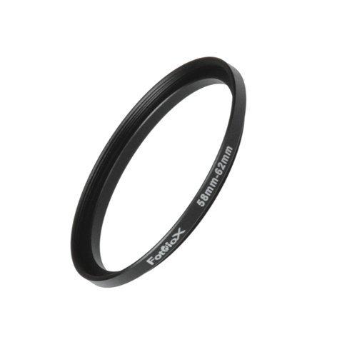 Fotodiox Metall Step Up Filteradapter Ring, eloxiert Schwarz Metall 58mm-62mm, 58-62 -- Objektivgewinde auf Filtergewinde 62 Mm-adapter-ring