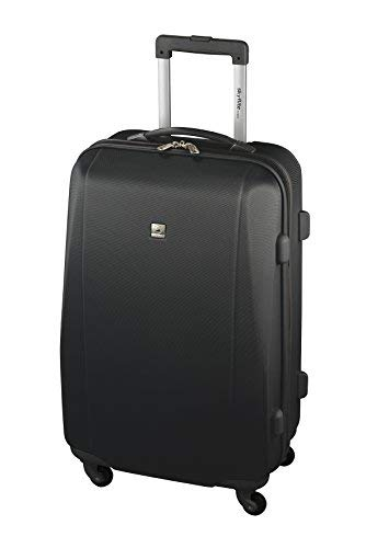 Skyflite Elan 55cm Cabin ABS Hard Shell Spinner Case in Black