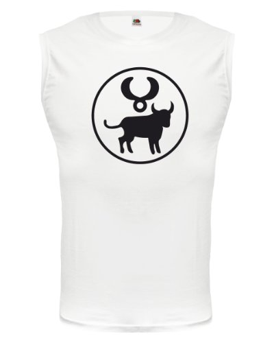 buXsbaum® Tank Top Stier-Tierkreiszeichen White-Black