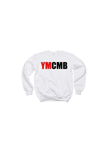 YMCMB - Sweat col rond bi color Noir