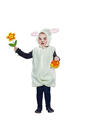 Kinder Kostüm Schaf Lamm Schäfchen Karneval Fasching (Kostüm Schäfchen)