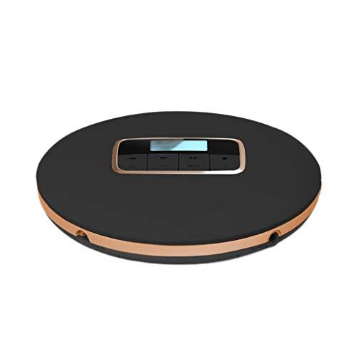 DUOER home Tragbare CD-Player Tragbarer CD-Player Persönlicher CD-Player CD Walkman Soundeffekte umfassen Flat/BBS/Pop/Jazz/Rock/Klassik (Color : Black) (Cd Player 100 Home Disc)