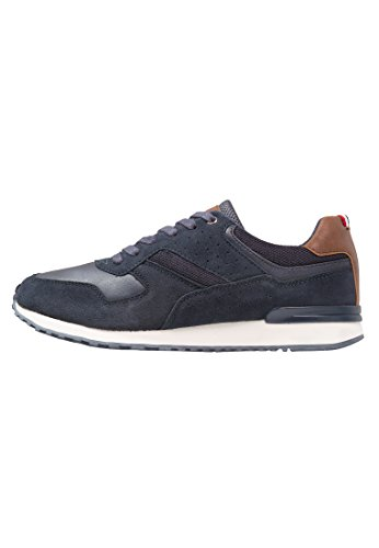 Pier One Herren Sneaker Aus Wildleder in Blau – Low Top Sneakers Aus Veloursleder, 44 Jeezy Schuhe
