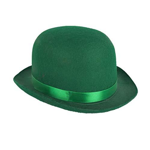 BESTOYARD St. Patrick's Day Hut Irland St Patrick ausgefallene Stirnband irischen Dekor Hut einfache lustige Mütze für Party Festival Carnival (grün) (Patricks St Dekor Day)