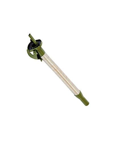 Preisvergleich Produktbild Metall-Auslaufrohr flexibel 20mm für Metall-Kraftstoff-Kanister, extra lang, silber/oliv