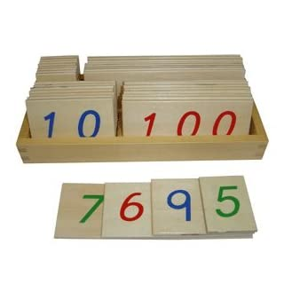 Wooden Large Place Value Cards 1-9999