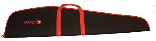 Funda Gamo carabina visor. Negra/Roja. 120cm