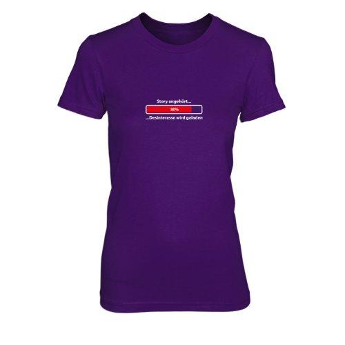 Story angehört...Desinteresse wird geladen - Damen T-Shirt Lila