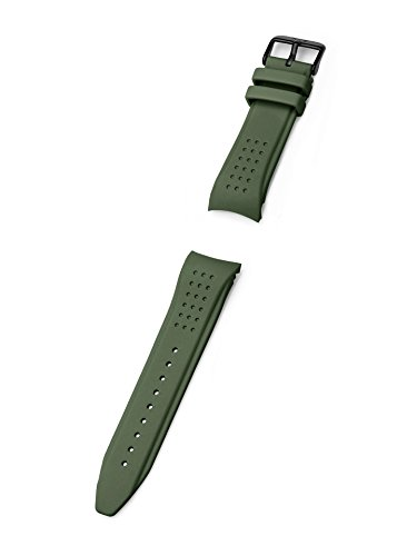 KHS | Silikonband Striker MKII 24mm Olive | Ersatzarmband | KHS.EBSTSO.24, Uhrenarmband