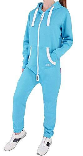 GR4 Finchgirl Damen Jumpsuit Jogging Anzug Trainingsanzug Overall Türkis M