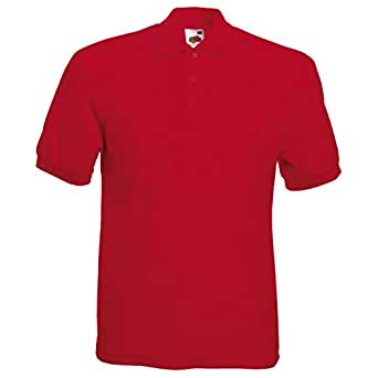 Fruit of the Loom Pique Polo Shirt Red - L