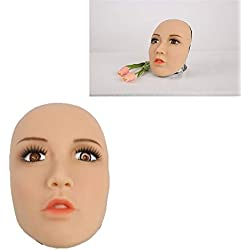 FYN Crossdresser Silicone Spoof Mask Sexy para Transgender Shemale Simulation Gay Dress Up para Hombre con Media Cabeza