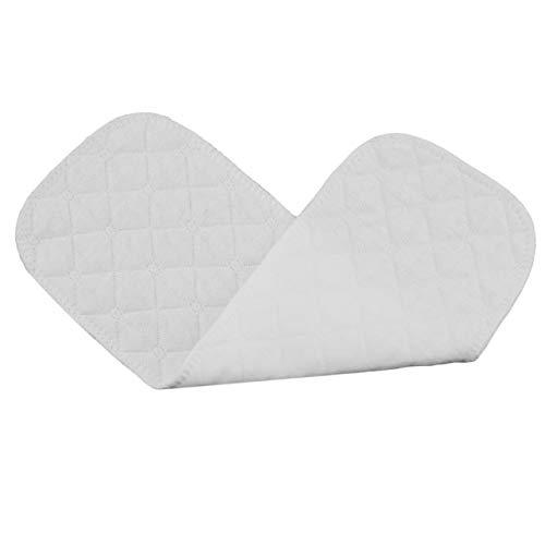 Baumwolle 10 teile/satz Weiche Atmungsaktive Wiederverwendbare Reine Baumwolle Baby Stoffwindel Windel Liner Insert 3 Schichten (weiß) DEjasnyfall