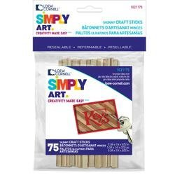 Bulk Buy: Loew-Cornell Skinny Sticks 5 3/4X1/4 75 Pkg 1021175 by Loew-Cornell - Skinny-sticks
