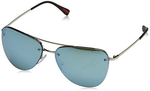 Prada Linea Rossa Damen Sonnenbrille Ps53rs, Silber (Silver 1BC1M0), One size (Herstellergröße: 57)