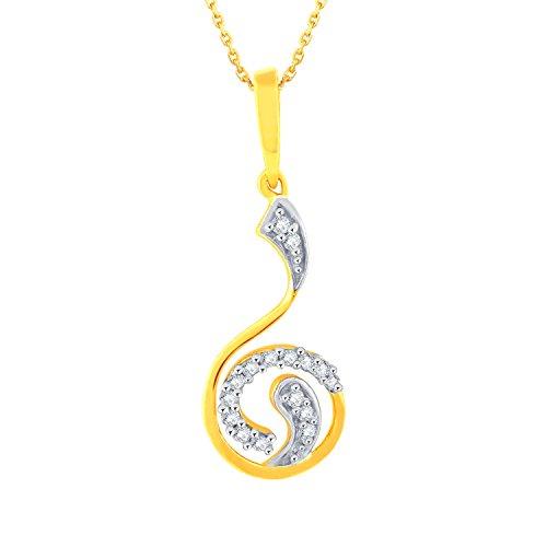 Giantti 14carats Diamant Pendentif Femme Collier (0.092CT, VS/Si-clarity, Gh-colour)