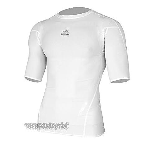 Adidas TechFit PowerWeb Compression Short Sleeve T-Shirt - X Large