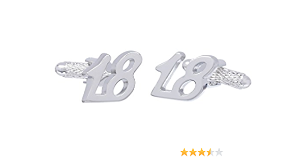 18th Birthday Boy Engraved Cufflinks Eighteenth 18 Years Old Present Gift Box