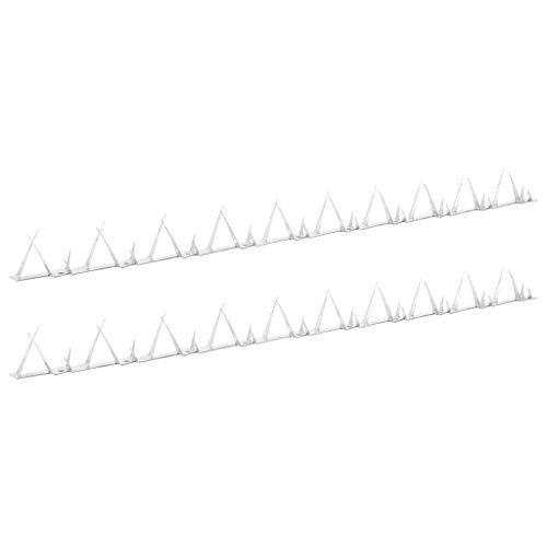 Tidyard Zackenleiste Übersteigschutz 2 STK. Mit vorgeformten Löchern & 2 Zackenleisten-Größen Für den Einsatz an Zäunen, Mauern, Toren, Balkonumrandungen,Länge:1 m.Stahl,Silbern