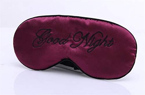 YUELANG Schlafaugenmaske Gepolsterte Sonnenbrillen Gute Nacht Reise Entspannungshilfe Augenbinde Blau Rosa Lila Grün Beige Schnarchen Seidenmaske (Color : E)