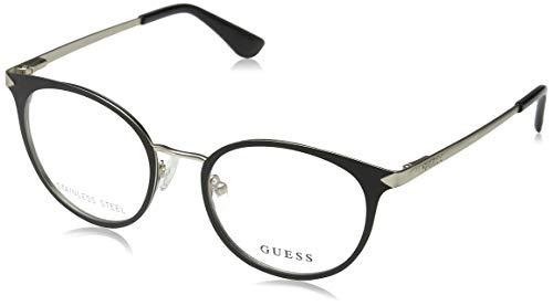 Guess Unisex-Erwachsene GU2639 002 49 Brillengestelle, Schwarz (Nero Opaco),