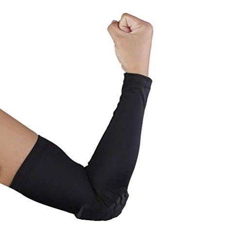 WINOMO Manchette de sport Manchon de bras compression Protection pour le Golf cyclisme basket M (noir)