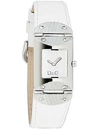 D&G Dolce&Gabbana DW0326 - Reloj analógico de mujer de cuarzo con correa de piel blanca
