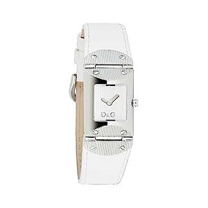 D&G Dolce&Gabbana DW0326 – Reloj analógico de mujer de cuarzo con correa de piel blanca