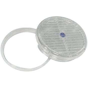 Bianco Acciaio Zincato 8 mm Bulk Hardware BH01960 Anello Spessore con Piastra Quadrata