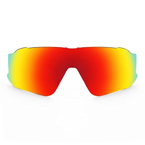 Revant Schutzglas für Oakley Jawbreaker Polarisierung Elite Feuerrot MirrorShield® Asian Fit