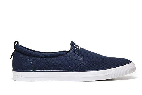 Calvin Klein Herren Armand Canvas Flache Hausschuhe Blue Boat