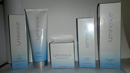 Jeunesse Luminesce Antiage Skin care Package (SET 5 ITEMS INCLUDED) Serum-Daily moisturizing-Night repair-Cleanser-Lifting Masque
