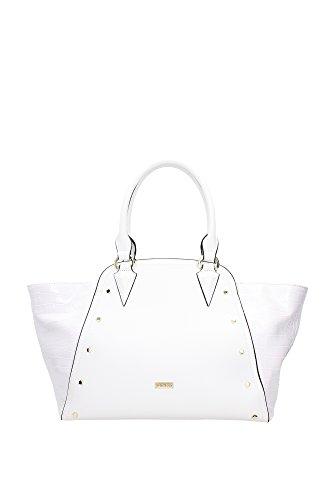 Borse Shopping Pinko Donna Poliuretano Bianco e Oro 1P20R5Y2CRZ04 Bianco 17x26x32 cm