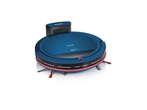 Severin RB 7028 Saugroboter (Inklusive Premium-Set mit Ladestation, Pointer-Fernbedienung und Raumteiler, S´SPECIAL chill pro) blau/rot