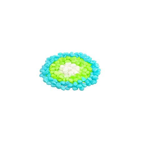 NO BRAND 50 Pcs Luminosa Artificial Guijarros De Colores Peces De Acuario Tanque De Piedra Hermoso del Hogar De La Decoración del Jardín