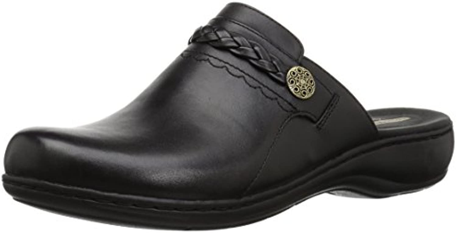 Clarks Wouomo Leather, Leisa Carly Clog, nero Leather, Wouomo 065 M US d5a2ff
