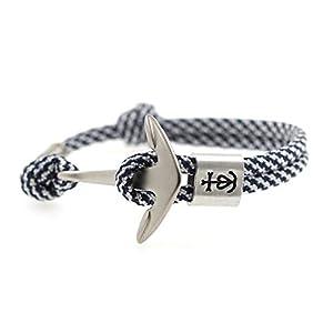 KOMIMAR Anker Armband GLAUBE-LIEBE-HOFFNUNG mit persönlicher PRÄGUNG/GRAVUR in vielen Anker & Tau Farben - personalisiert - Gravur Armband - Initiale - personalisierbar - Herren Armband