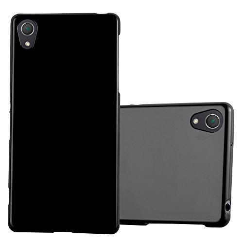Cadorabo Hülle für Sony Xperia Z2 - Hülle in Jelly SCHWARZ - Handyhülle aus TPU Silikon im Jelly Design - Silikonhülle Schutzhülle Ultra Slim Soft Back Cover Case Bumper