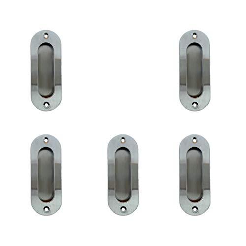 Vkospy 5pcs Oval geformte versteckter Einbau Pull Einbau Verdeckte Schränke Schrank Griff aus Edelstahl -