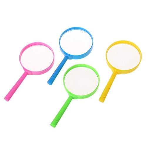Brilcon Tragbare Handlupe 60mm 3X Lupe Lupe Glaslinse Kinder Spielzeug Zufällige Farbe