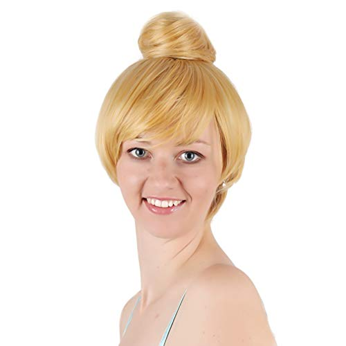 FSDTBS Perücken, Flauschiger Goldener Hochtemperaturdraht Mit Kurzen Haaren -