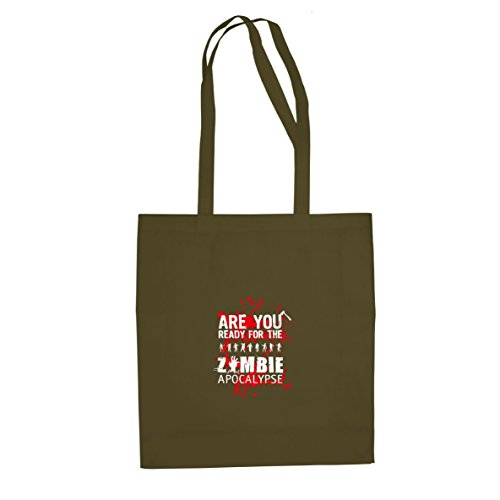 Are you ready for the Zombie Apocalypse - Stofftasche / Beutel, Farbe: oliv