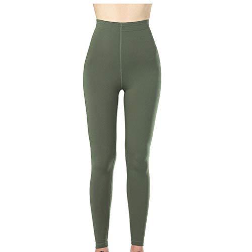 BHYDRY Frauen-Yoga-Laufhose, zum des Hinterteil-Hosen-Trainings-laufenden Leggings anzuheben(Large,Grün) -