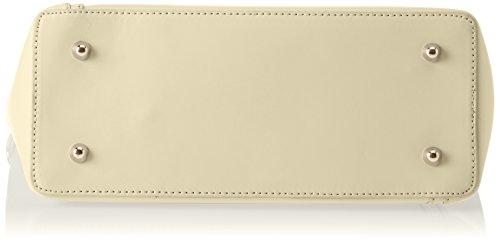 Chicca Borse Damen 8611 Schultertasche, 36x28x12 cm Giallo (Yellow)